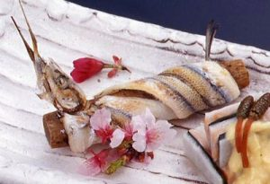 Roasted garfish of soring